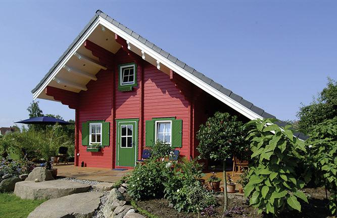 Gartenhaus Kronsgaard XXL-Format mit Schleppdach