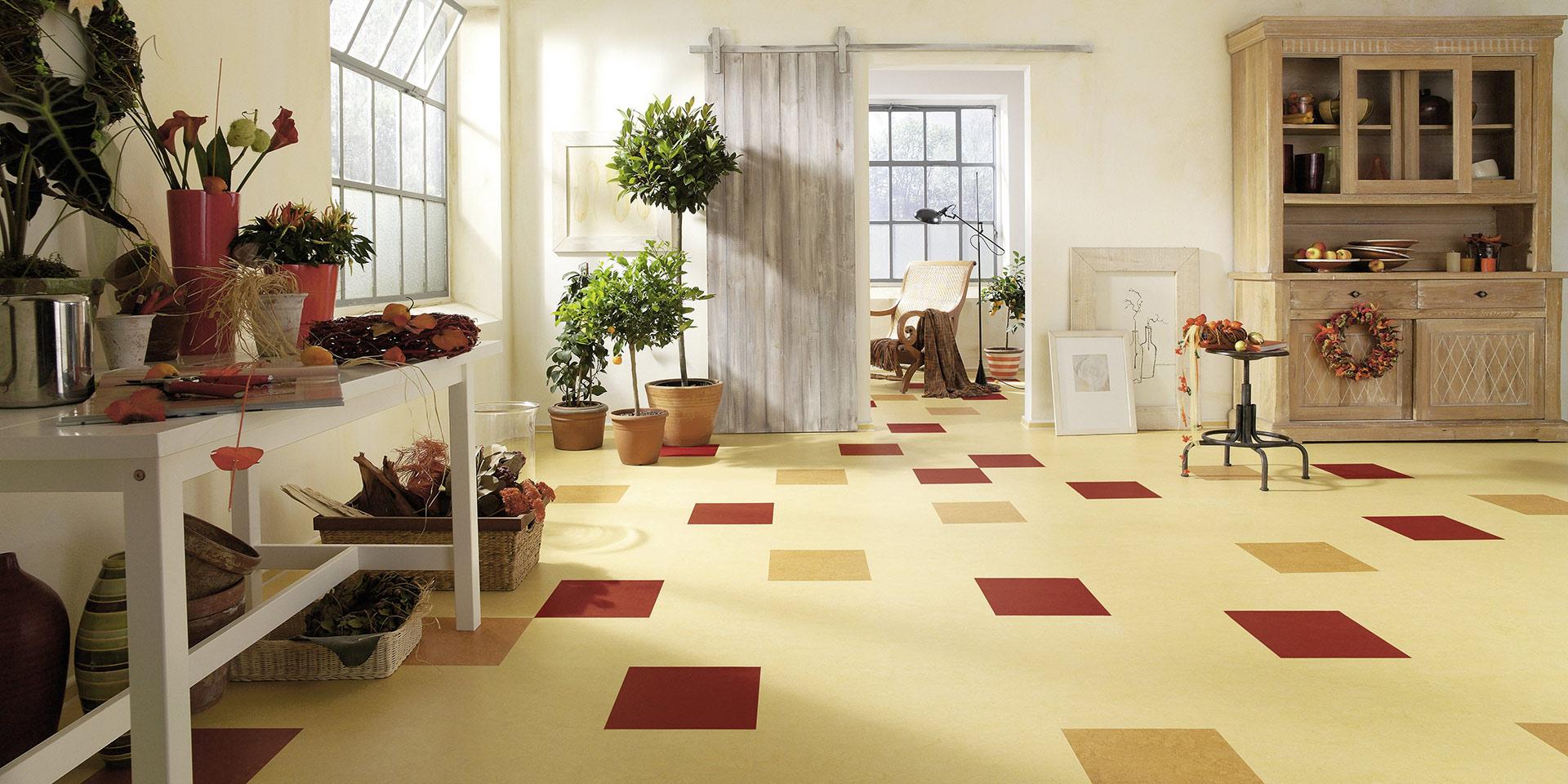 Linoleum als trendiger und kreativer Bodenbelag