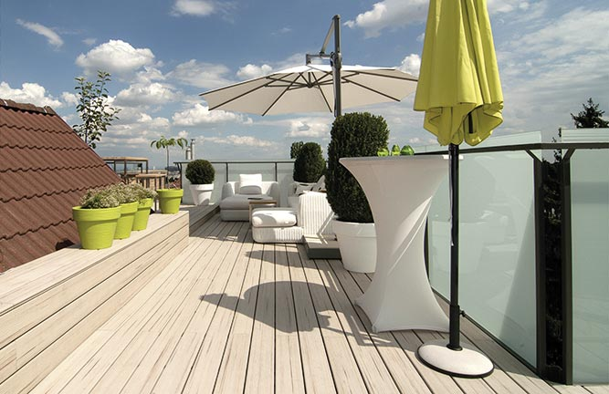 Terrassendielen Terracon-Thermo-WPC, hellbeige