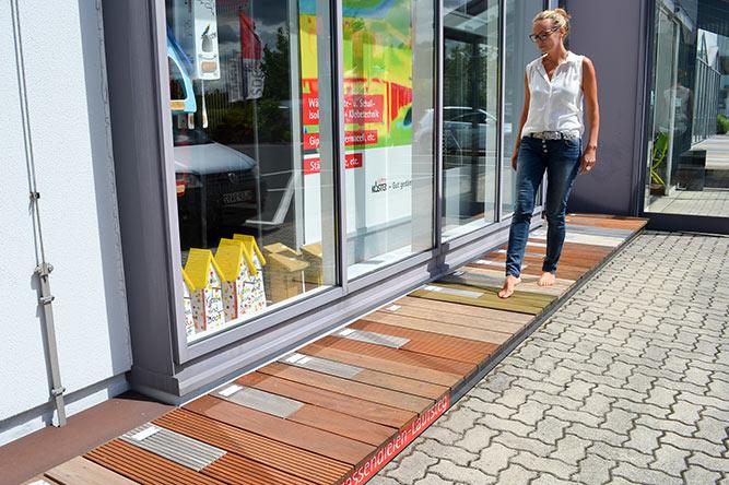 Holz-Terrassendielen-Laufsteg