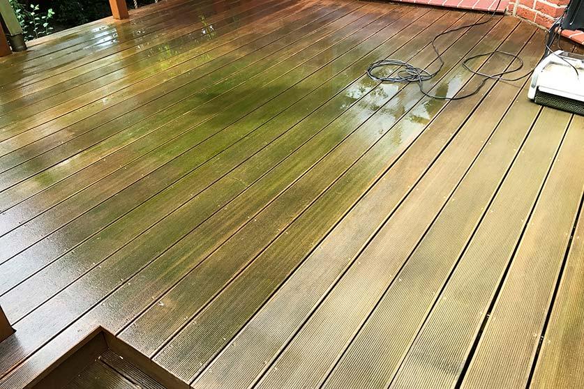 Terrasse Holz reinigen HolzLand Köster