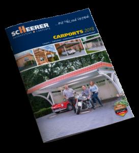Katalog Carports, Bikeports, Gartenhäuser
