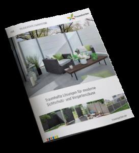 Katalog Pflegeleichte Zaunsysteme, Sichtschutz Brügmann Traumgarten