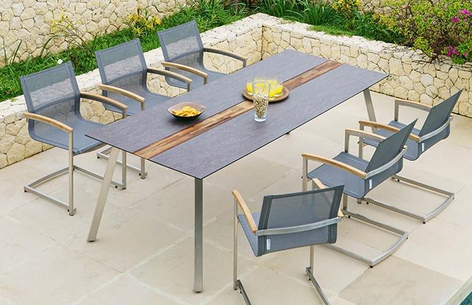 Gartentisch Linax und Garten-Swinger Setax