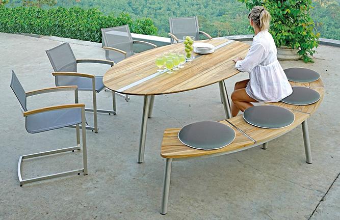 Gartenmöbel Sitzgruppe Gartentisch Trix und Swingersessel Setax