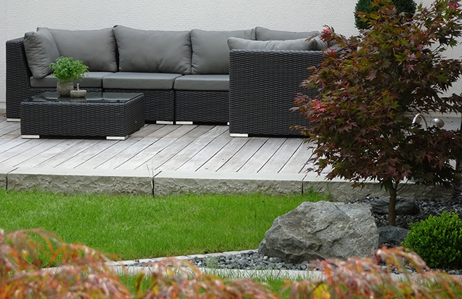 Gemütliche Garten Lounge Sitzgruppe Tivoli Zebra