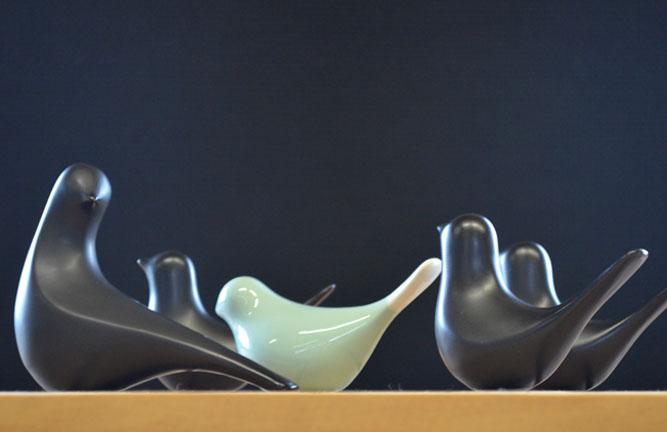 Wohnaccessoires, Keramikvögel Inka und Phönix
