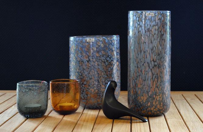 Wohnaccessoires, Vase Palermo, Glasteelicht Pascal