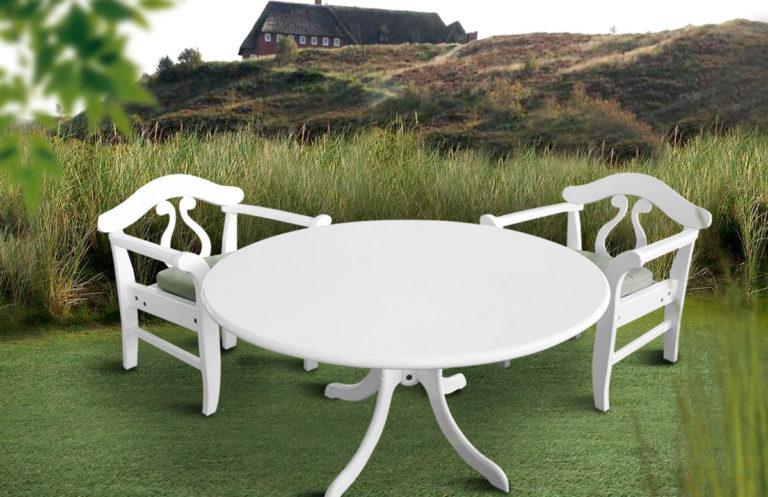 Garten-Sitzgruppe, weiß, Peters und Peters, Sylt-Style
