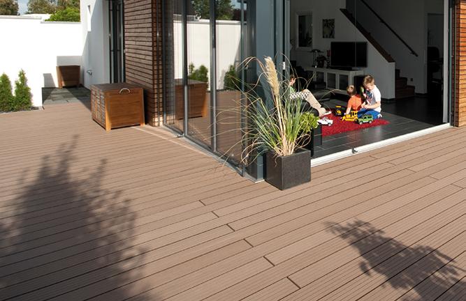 BPC-Terrasse, Multi-Deck, massiv, dunkelbraun