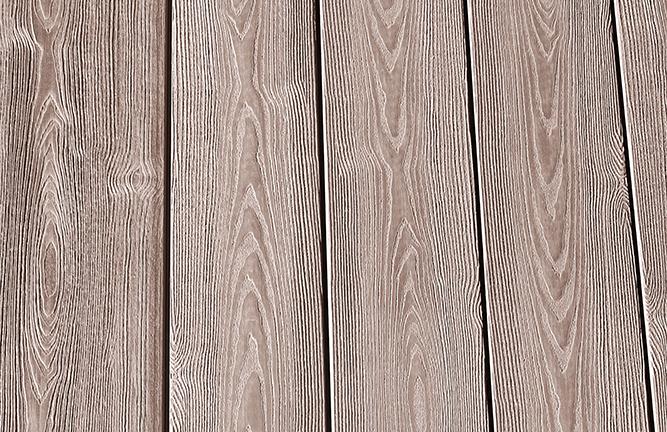WPC-Terrassendiele, Detailansicht, Oberfläche Holzmaserung, braun