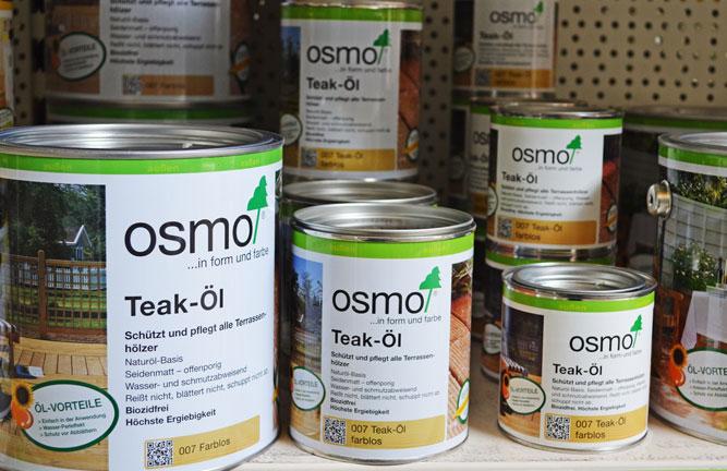 Terrassenpflege Teak-Öl von Osmo