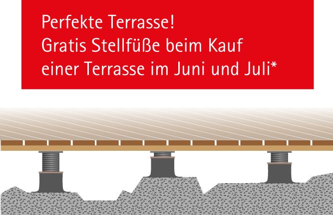 Grafik: Anwendung der Terrassen Stellfüße