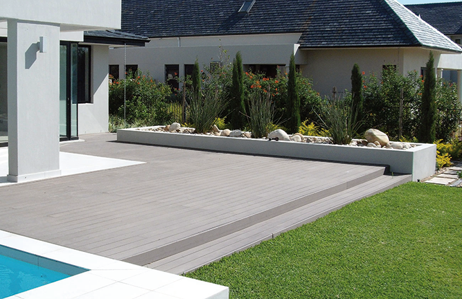 Terracon-Thermo-WPC-Terrassendielen, grau