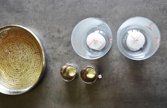 Tischdeko Glas Gold