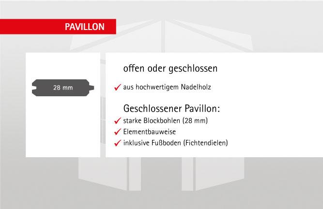 Details Garten-Pavillon