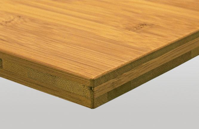 Bambus Massivplatte für Möbelbau, Breitlamelle gedämpft