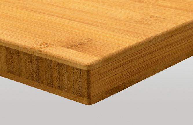 Möbelbauplatten Bambus Massivplatte, Breitlamelle gedämpft