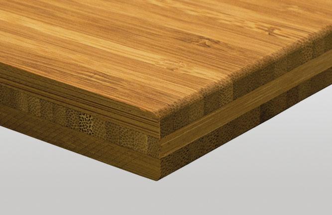 Bambus Massivplatte für Möbelbau, Hochkantlamelle 18 mm stark