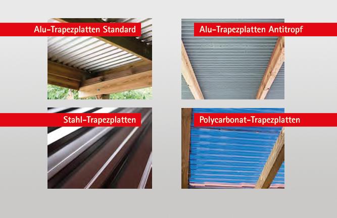 Ansicht DacheindeckungenTrapezplatten