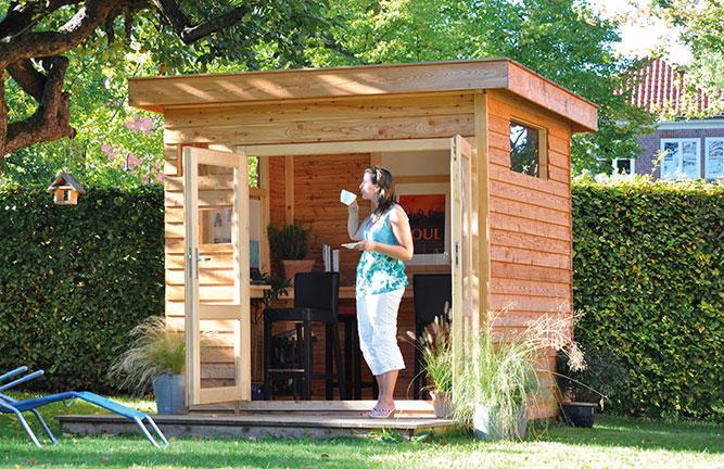 Gartenhaus Freestyle, Lärche mit Wechselfalz-Profilen