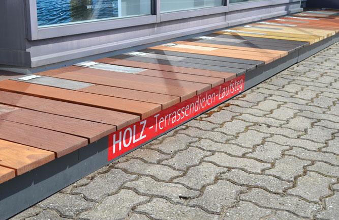 Holz-Terrassendielen-Laufsteg, 16 Echtholz Varianten