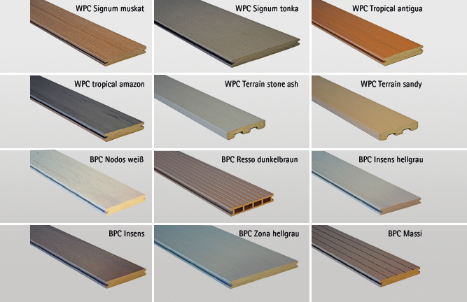 Große Auswahl an WPC- und BPC-Terrassen