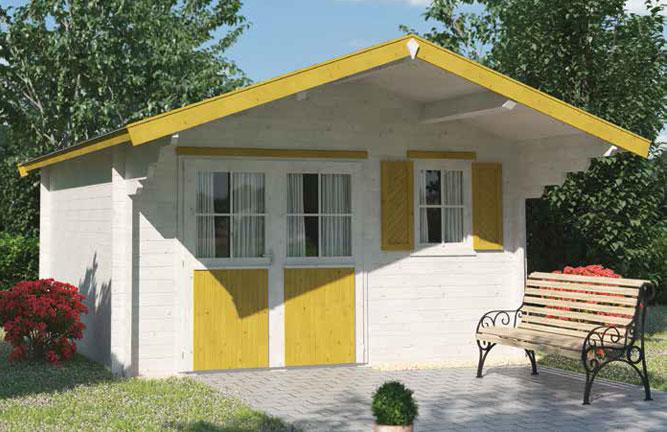 Gartenhaus Casa mit Vordach, Fichte