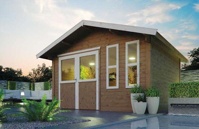 Gartenhaus Casa nova mit Fensterbändern