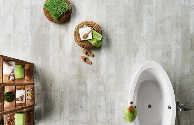 JAVA-Mineraldesign Boden, Steinoptik, Dekor Solo weiß, Badezimmer