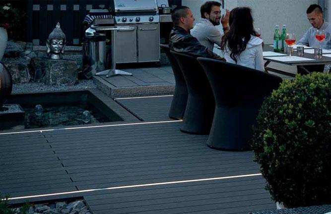 LED-Terrassenbeleuchtung, Lichtleisten für Terrassendielen