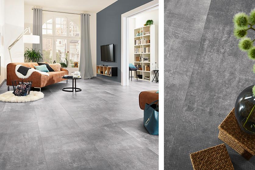 JAVA-Mineraldesign Boden, Steindesign, Dekor Chewe Smoke