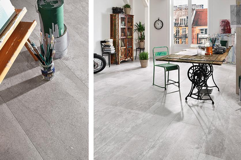 JAVA-Mineraldesign Boden, Steindesign, Dekor: Pola grey