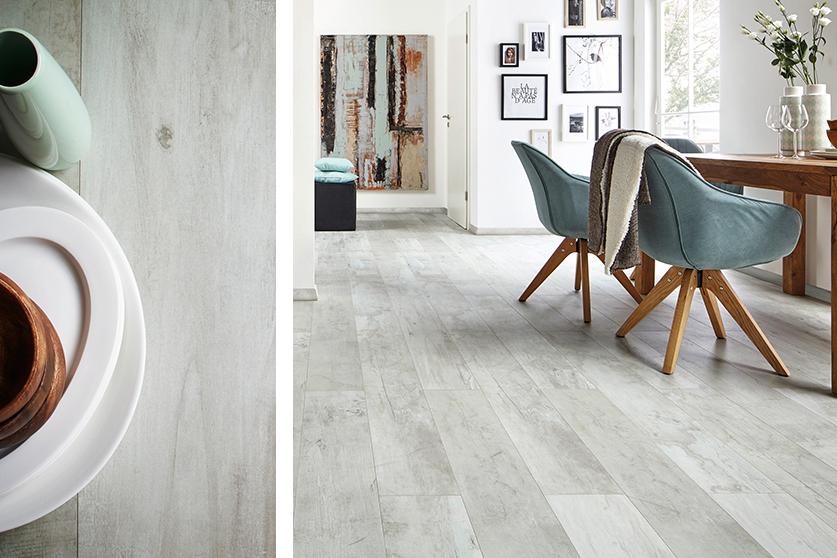 JAVA-Mineraldesign Boden, Steindesign, Dekor Solo weiß