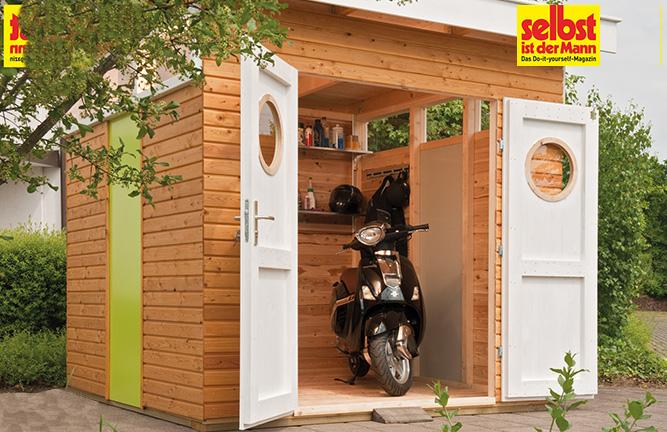 Gartenhaus Freestyle als Bikeport