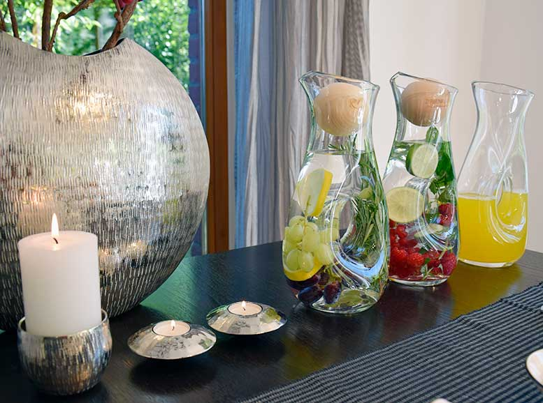 Kristallglas-Karaffe buco mit Loch