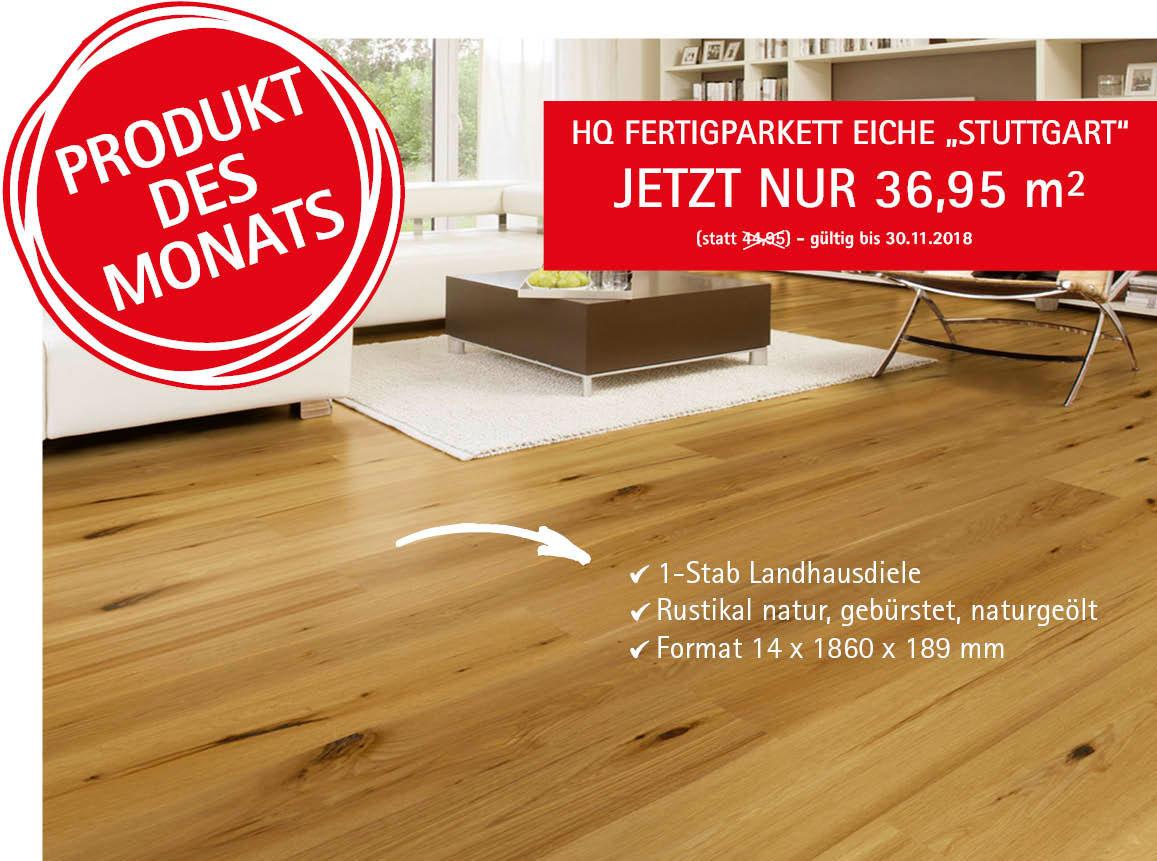 """Angebot: HQ Fertigparkett Eiche """"Stuttgart"""""""