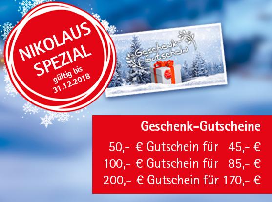 Angebot: Geschenk-Gutscheine