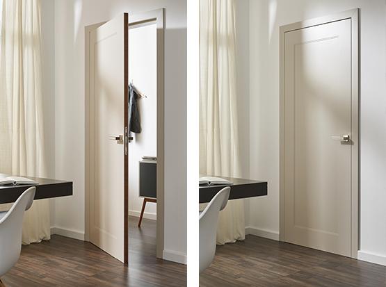 Holzland Köster, Sandwichkante bei offener und geschlossener Tür