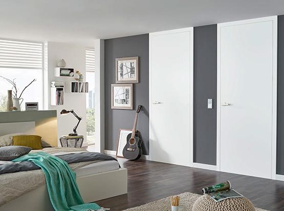 Zimmerhohe Innentüren, weiß glatt, Echtlack