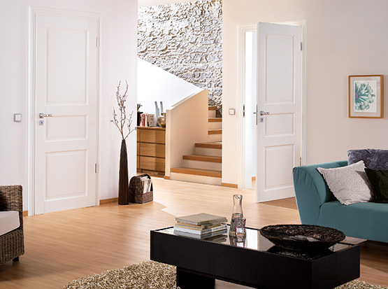 Zimmertür Modell Nordland, weiß, Echtlack