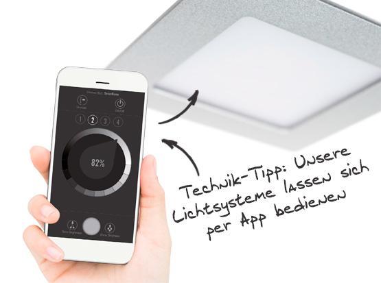 Beleuchtungssystem, Big Shot-Quadro mit App Bedienung