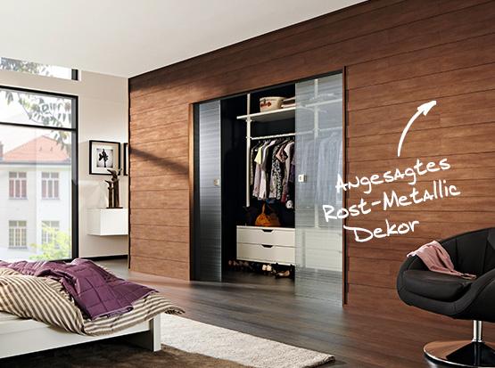 Wand und Decke: Systempaneele Nova, Dekor Rost-Metallic