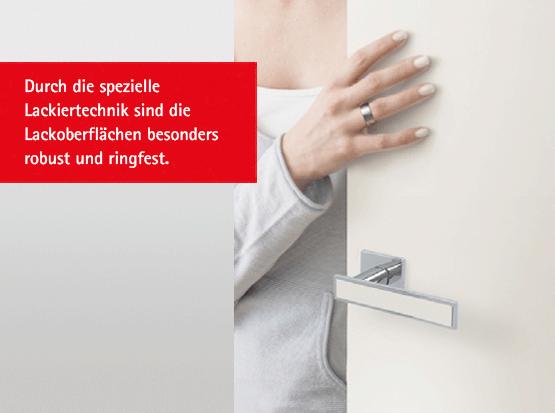 Türen mit robuster und ringfester Oberfläche