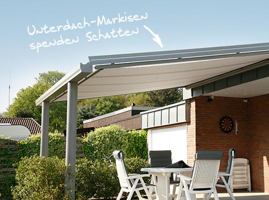 Unterdach-Markise für Alu-Überdachungen