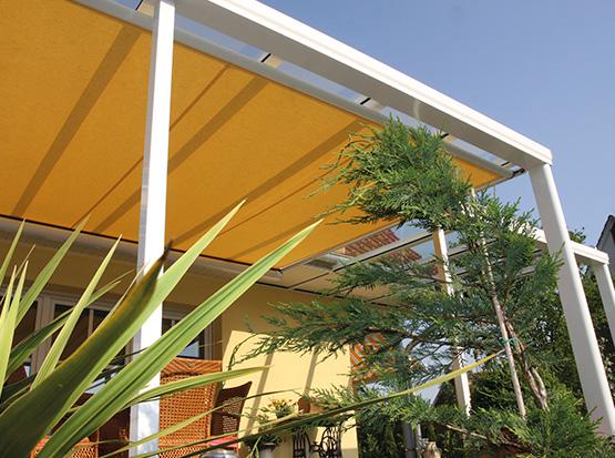 Für Alu-Überdachungen: Unterdach Markise, gelb