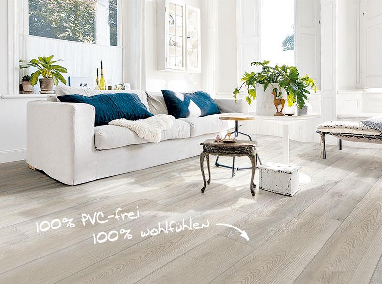 Designboden MeisterDesign.life,, Vinylboden ohne Vinyl, Holznachbildung, Wildeiche grau