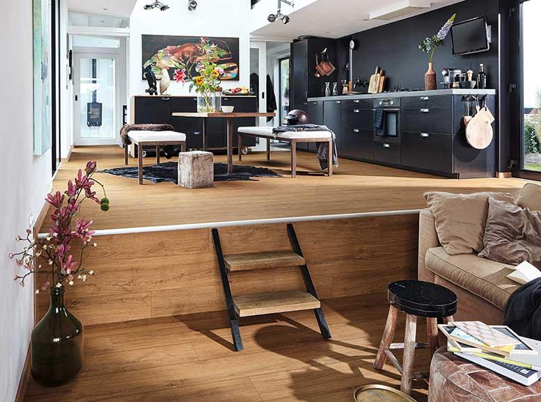 Vinylboden ohne Vinyl, MeisterDesign.comfort, Holznachbildung Golden Oak