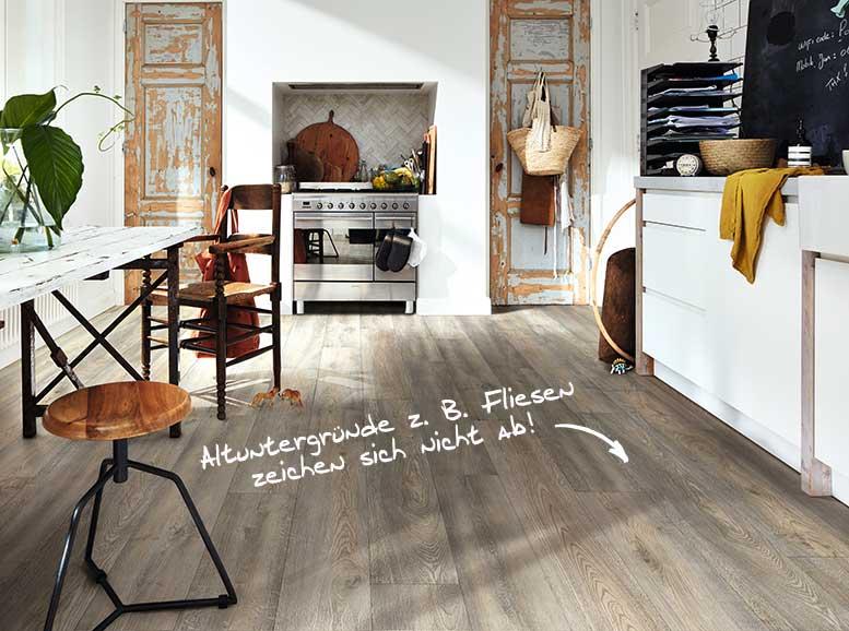 Vinylboden MeisterDesign.flex, dekor Wildeiche grau