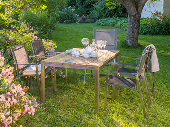 Garten-Sitzgruppe, Tisch Barletta, Stuhl Monaco